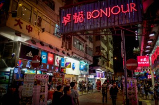 Night market in HK