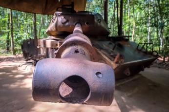U.S. tank in the Cu Chi tunnel area
