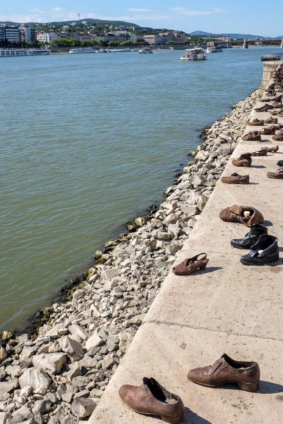 Holocaust memorial along the Danube